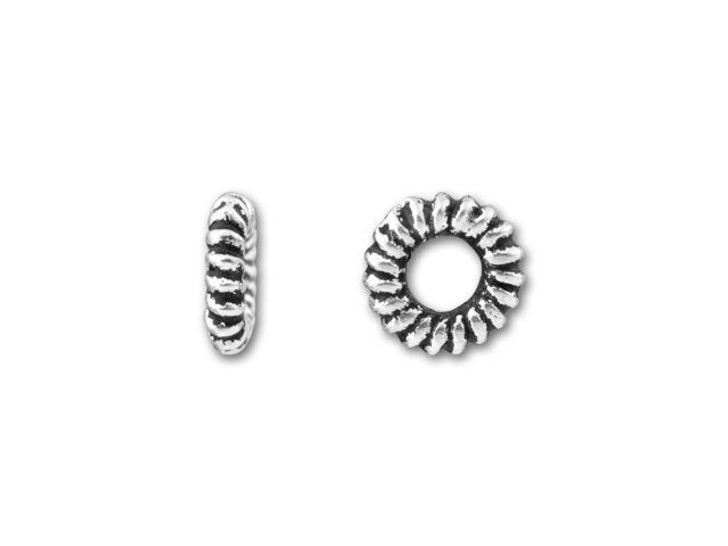 TierraCast Antique Silver Small Coiled Ring Spacer