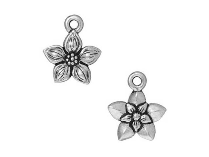 TierraCast Antique Silver Star Jasmine Charm