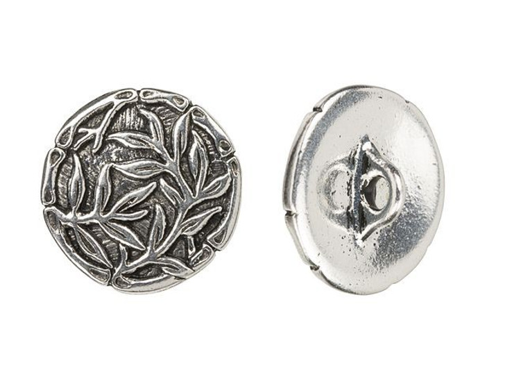 TierraCast Antique Silver-Plated Bamboo Button