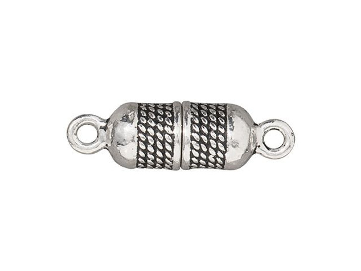 TierraCast Antique Silver-Plated Pewter 5mm Rope Magnetic Clasp Set