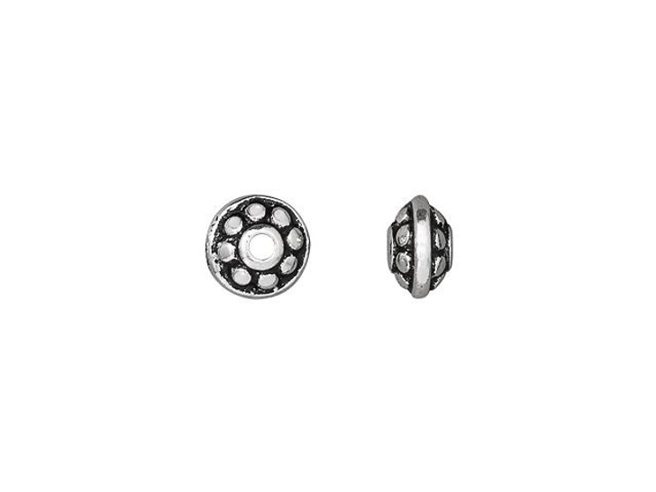 TierraCast Antique Silver-Plated Pewter 6mm Dotted Spacer