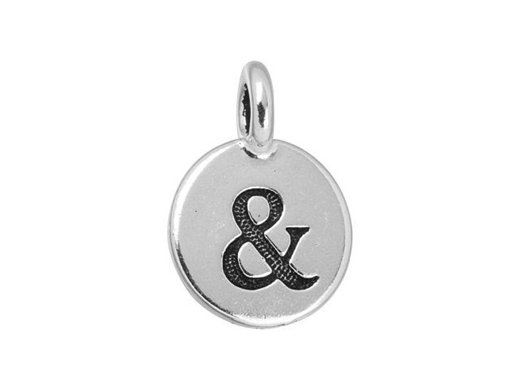 TierraCast Antique Silver-Plated Pewter Ampersand Charm