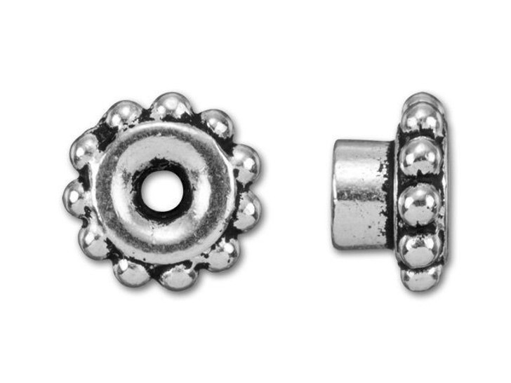 TierraCast Antique Silver-Plated Pewter Beaded EuroBead Aligner