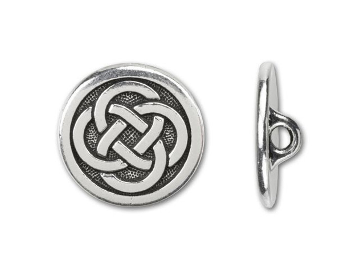 TierraCast Antique Silver-Plated Pewter Celtic Button