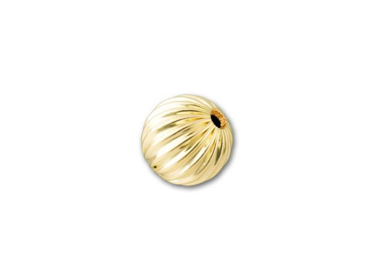 6mm Gold-Filled Round Corrugated Bead