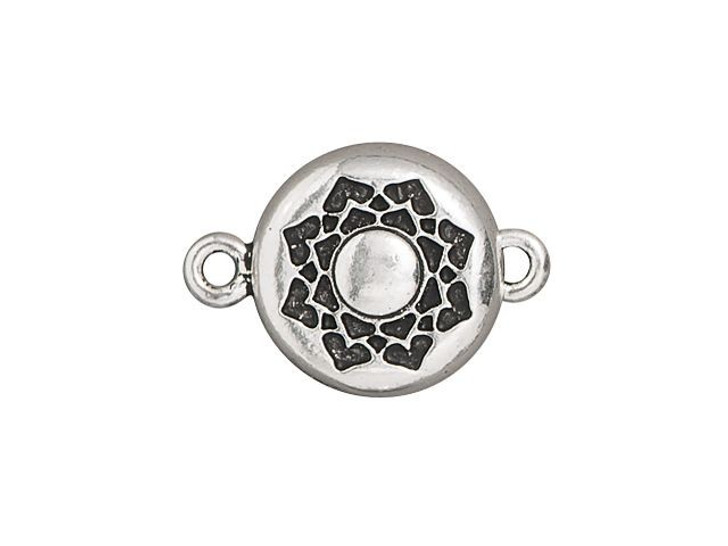 TierraCast Antique Silver-Plated Pewter Lotus Magnetic Clasp Set
