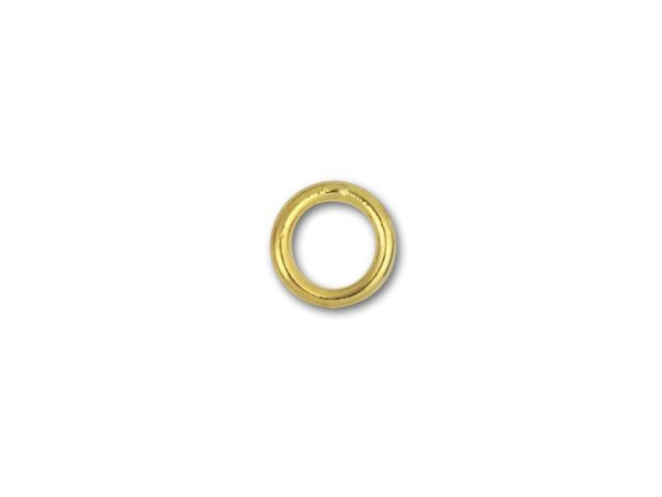 6mm Gold-Plated Closed Jump Ring