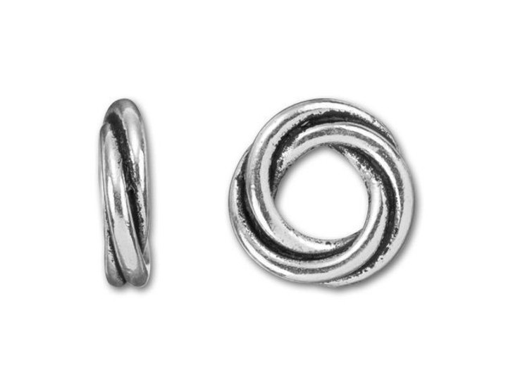 TierraCast Antique Silver-Plated Pewter Medium Love Knot Spacer