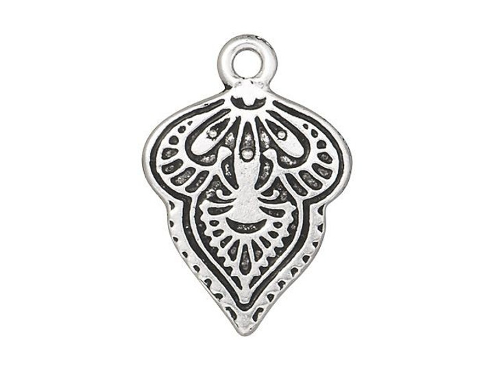 TierraCast Antique Silver-Plated Pewter Mehndi Charm