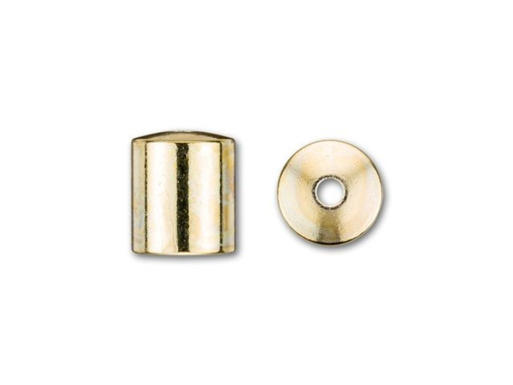 6mm Gold-Plated Cord End Cap