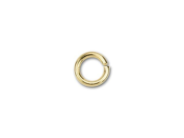 6mm Gold-Plated Open Jump Ring - 18 Gauge