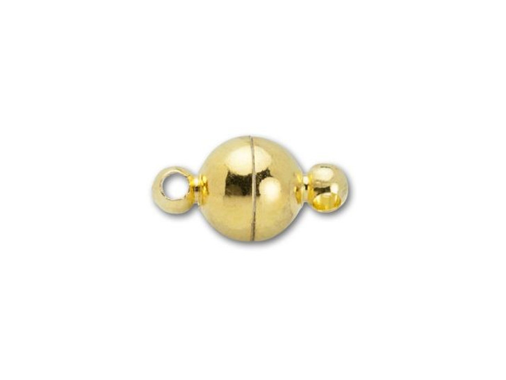 6mm Gold-Plated Round Magnetic Clasp