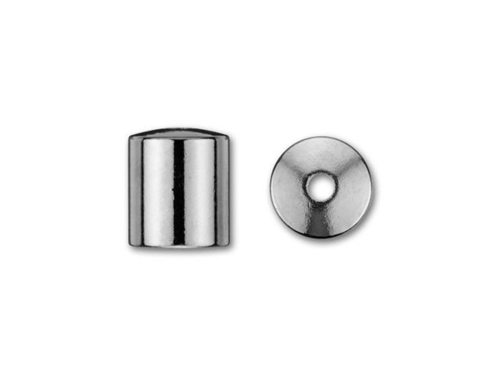 6mm Gunmetal-Plated Cord End Cap