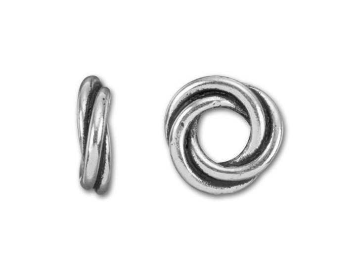 TierraCast Antique Silver-Plated Pewter Small Love Knot Spacer
