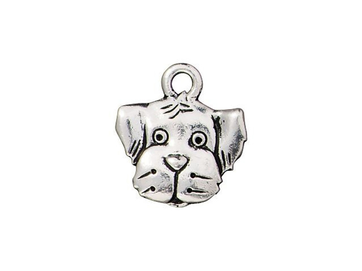 TierraCast Antique Silver-Plated Pewter Spot Dog Charm