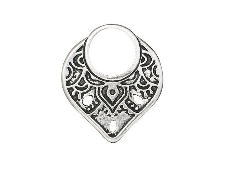 TierraCast Antique Silver-Plated Pewter Temple Ring Link