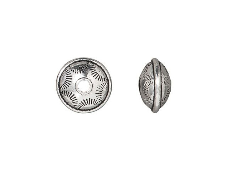 TierraCast Antique Silver-Plated Pewter Western Bead