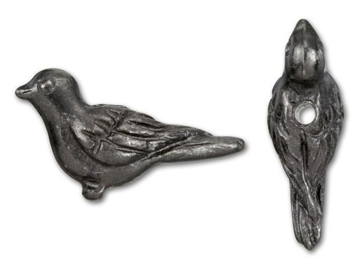 TierraCast Black Finish Pewter Paloma Bird Bead