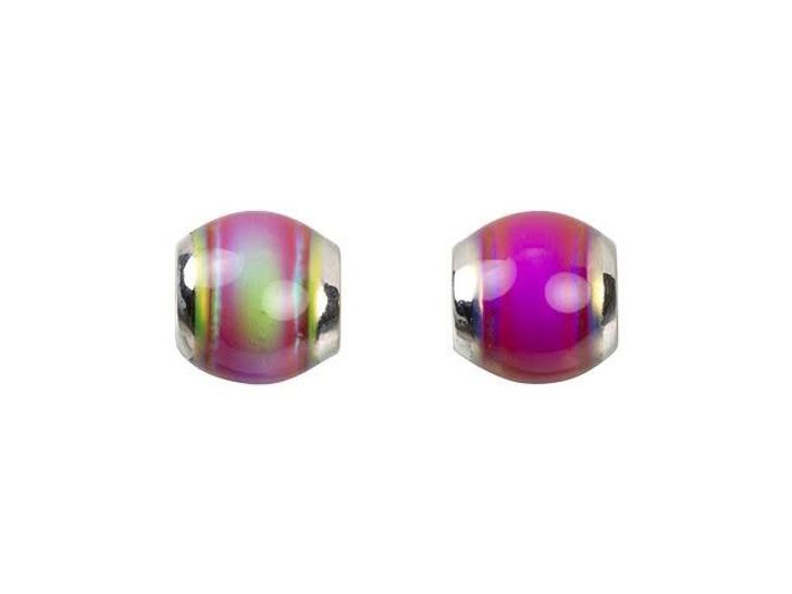 6mm Mirage Mood Hot Pink Round Bead