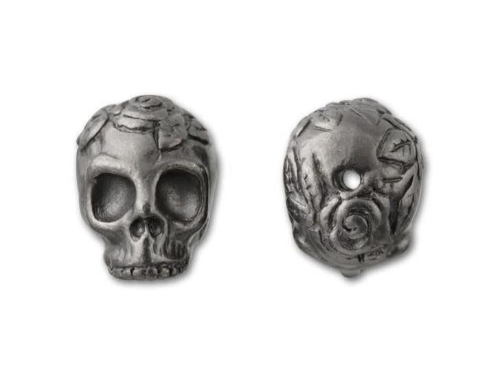 TierraCast Black Finish Pewter Skull Bead