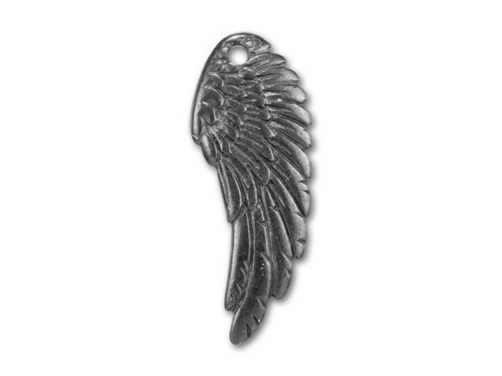 TierraCast Black Finish Pewter Wing Charm