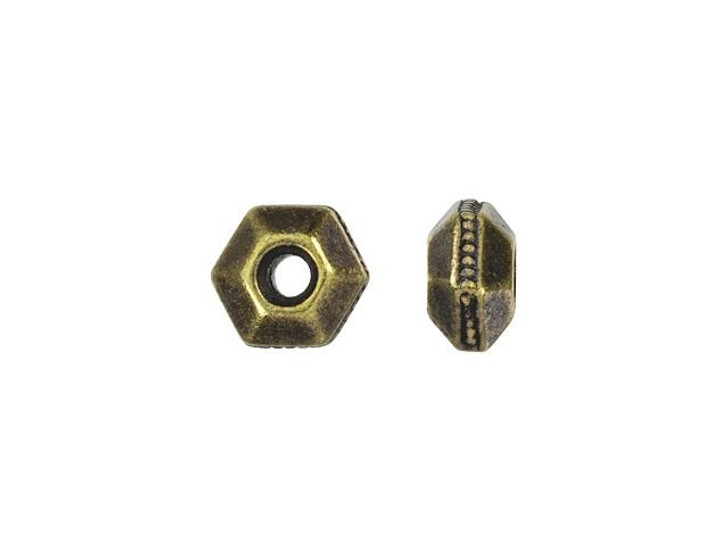 TierraCast Brass Oxide 5mm Faceted Bead Spacer