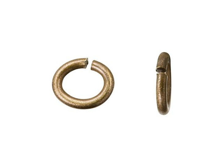 TierraCast Brass Oxide Brass Small Oval Open Jump Ring