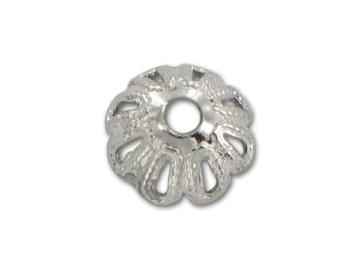 6mm Nickel-Plated Filigree Bead Cap