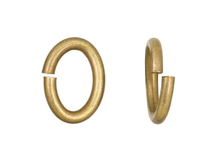 TierraCast Brass Oxide Large Oval Open Jump Ring