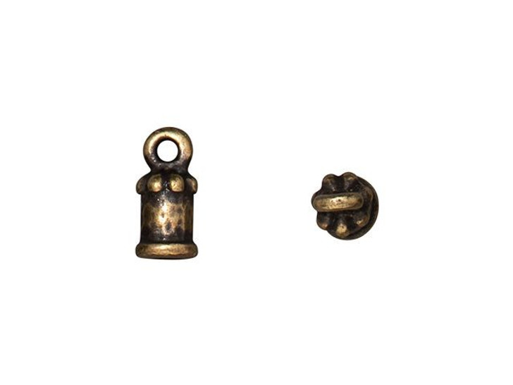 TierraCast Oxidized Brass-Plate 2mm Palace Cord End Cap