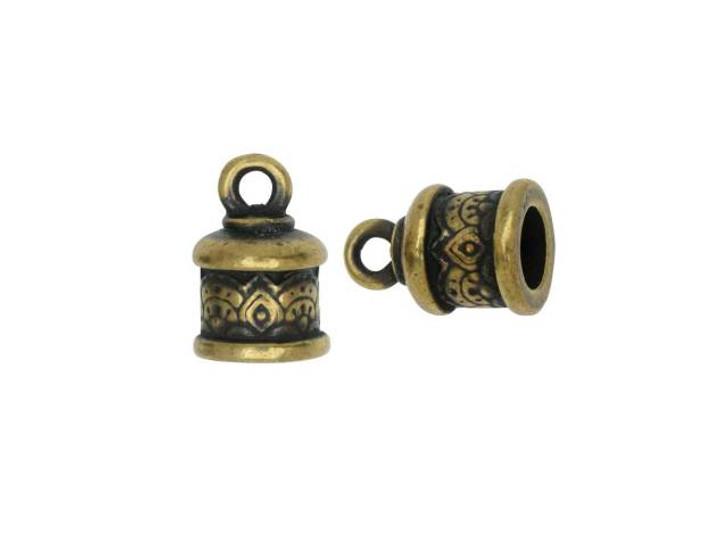 TierraCast Oxidized Brass-Plate 6mm Temple Cord End Cap