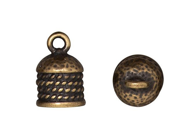 TierraCast Oxidized Brass-Plate 8mm Rope Cord End Cap