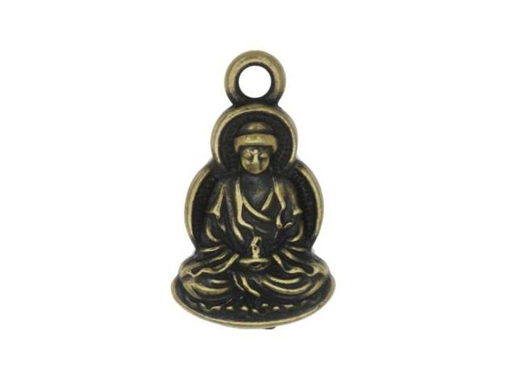 TierraCast Brass Oxide Pewter Buddha Charm