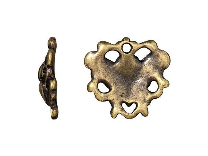 TierraCast Oxidized Brass-Plate Butterfly Link