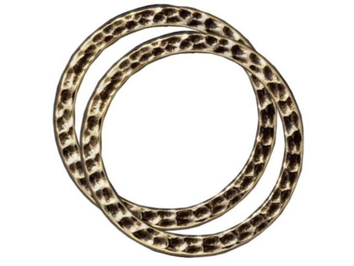 TierraCast Oxidized Brass-Plate Large Hammertone Ring Link