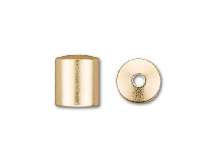 6mm Satin Hamilton Gold-Plated Cord End Cap
