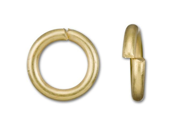 6mm Satin Hamilton Gold-Plated Open Jump Ring - 18 Gauge