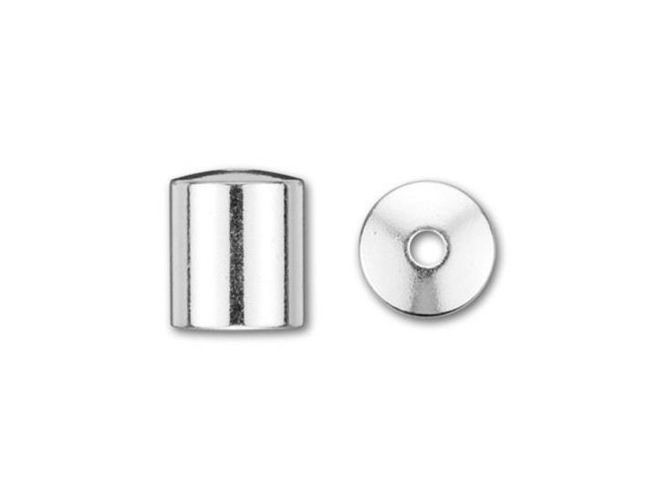 6mm Silver-Plated Cord End Cap