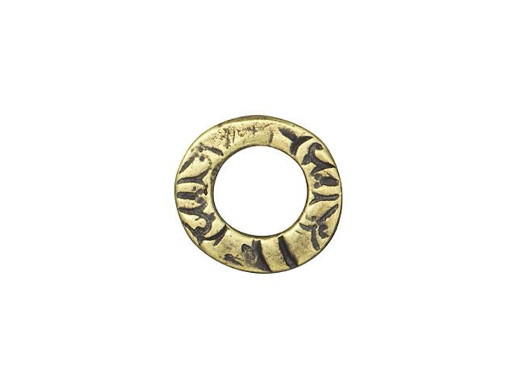 TierraCast Oxidized Brass-Plate Reversible Small Flora Ring Link