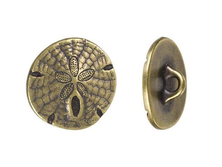 TierraCast Oxidized Brass-Plate Sand Dollar Button