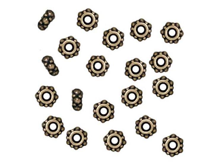 TierraCast Oxidized Brass-Plate Small Turkish Heishi Spacer