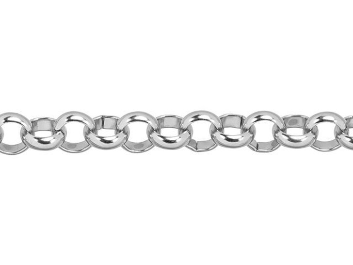 6mm Stainless Steel Rolo Chain By the Foot