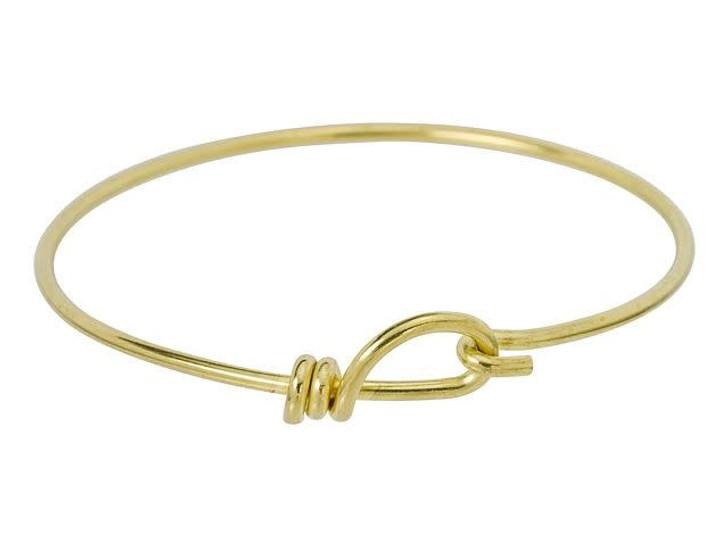 TierraCast Bright Brass Handmade 12 Gauge Wire Bangle Bracelet