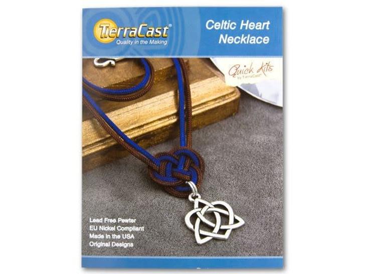 TierraCast Celtic Heart Necklace Kit