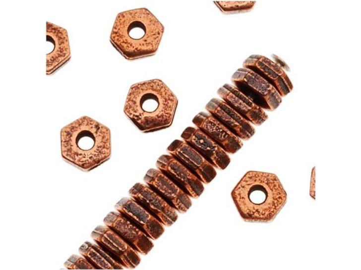 TierraCast Copper 4mm Hex Heishi Spacer