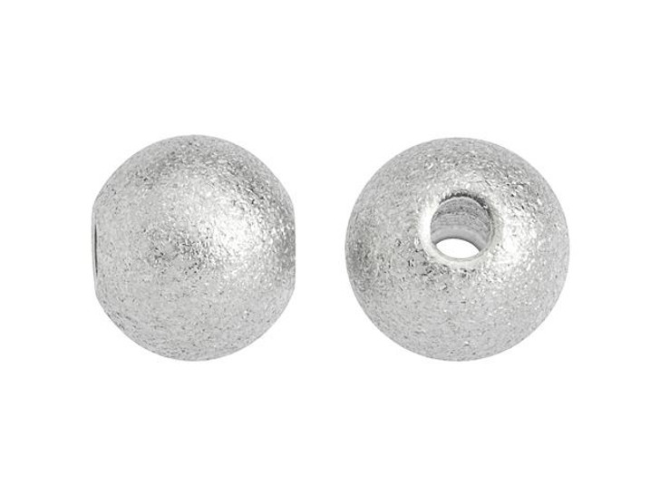 6mm Stainless Steel Stardust Round Bead