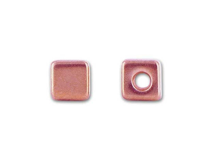 TierraCast Copper Antique Cube Bead