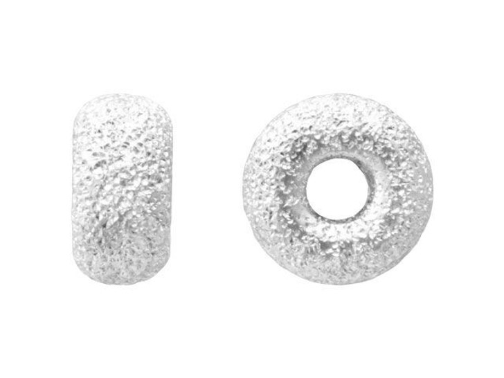 6mm Stardust (Laser Cut) Sterling Silver Roundel Bead
