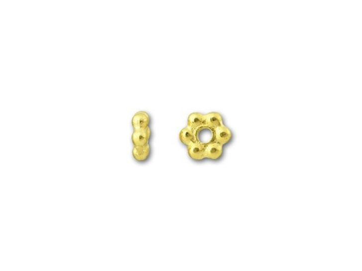 TierraCast Gold 3mm Beaded Heishi Daisy Spacer