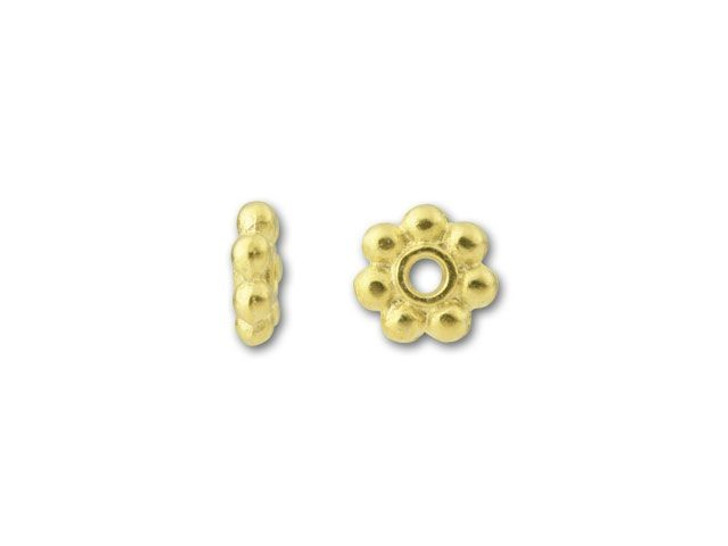 TierraCast Gold 4mm Beaded Heishi Daisy Spacer